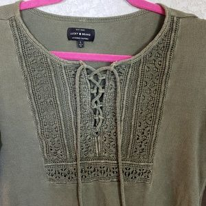 Lucky Brand long sleeve thermal tops set of 2
